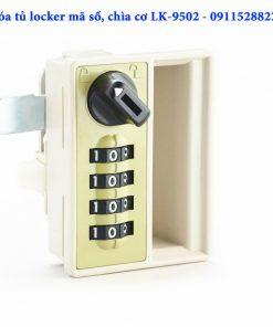 Khóa tủ locker mã số, chìa cơ LK-9502