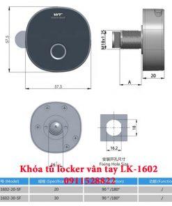 Khóa tủ locker vân tay LK-1602