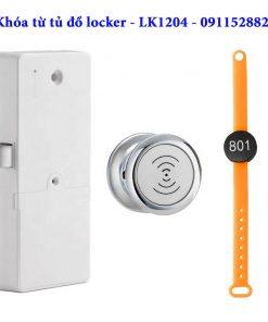 Khóa từ tủ đồ locker - LK1204 - Màu bạc