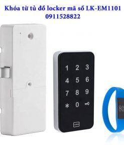 Khóa từ tủ đổ locker mã số LK-EM1101-Viền bạc