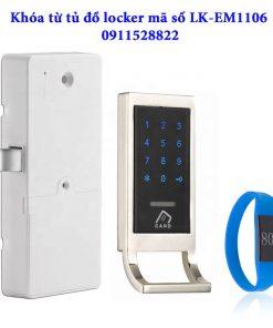 Khóa từ tủ đồ locker mã số LK-EM1106 - Viền bạc