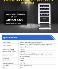 Khóa tủ locker mã số thẻ từ LK-113